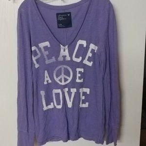 American Eagle long sleeve purple shirt. Large.